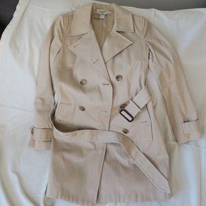 Banana Republic tan cotton trench coat XS